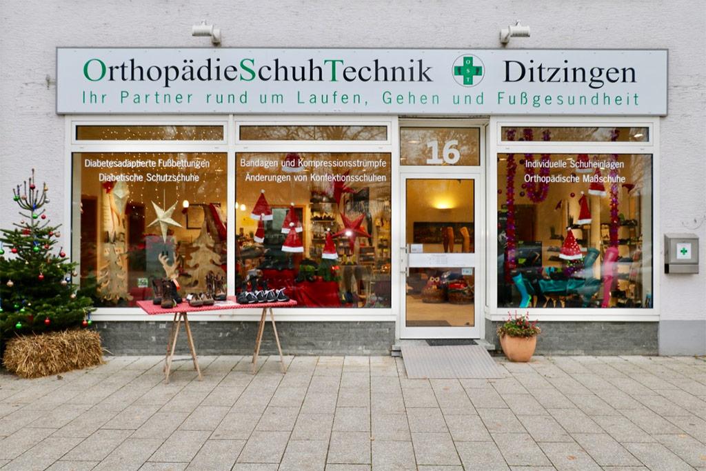 Advents- und Weihnachtszeit an der Orthopädie-Schuhtechnik Ditzingen